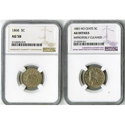 United States: Philadelphia Mint, Pair of 5 Cents,