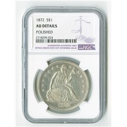 United States: Philadelphia Mint, 1872 Silver Dollar,