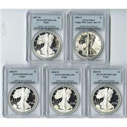 U.S. American Silver Eagles, 1986 to 2007 Proof & Uncirculated Collection