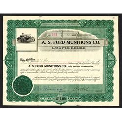 A.S. Ford Munitions Co. 1917, WW I Related Gun Company.