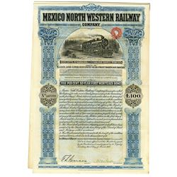 Mexico North Western Railway Co., 1909 Issued Bond
