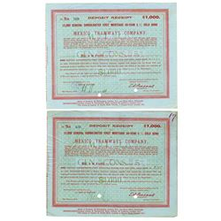 Mexico Tramways Co. 1916 Pair of Bonds