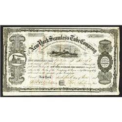 New York Seamless Tube Co., 1858 Stock Certificate.