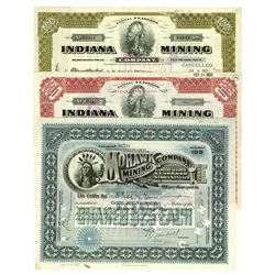 Indiana Mining Co. and Mohawk Mining Co. ca.1919-1925 Issued Stock Certificates