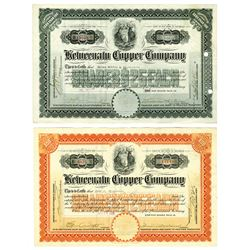 Keweenaw Copper Co., 1917-1926 Issued Stock Pair