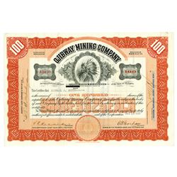 Ojibway Mining Co., 1930 Issued Stock Certificate