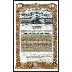 St. Louis, New Orleans and Ocean Canal Transportation Co. Issued Bond.