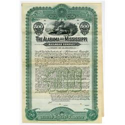 Alabama and Mississippi Railroad Co., 1902 Specimen Coupon Bond