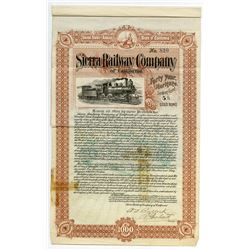 Sierra Railway Co. of California, 1904 Issued Bond.