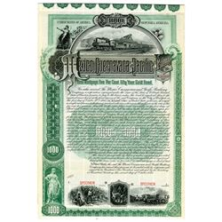 Mexico Cuernavaca and Pacific Railway Co., 1893 Specimen Bond