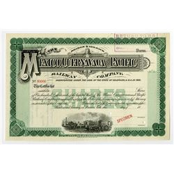 Mexico, Cuernavaca and Pacific Railway Co., ca.1880-1900 Specimen Stock Certificate