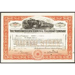 Northwestern Terminal Railroad Co. Issued Stock.