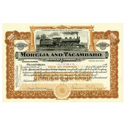 Morelia and Tacambaro Railway Co., 1907 Issued Stock Certificate