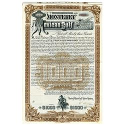 Mexico Gulf Railroad Co., 1888 Issued Bond