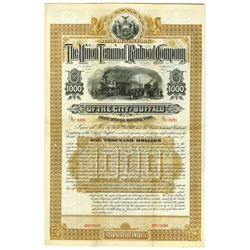 Union Terminal Railroad Co. of the City of Buffalo, 1884 Specimen Bond.