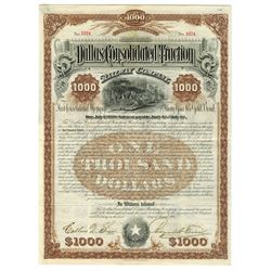 Dallas Consolidated Traction Railway Co. Issued Bond.