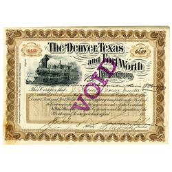 Dallas Railway & Terminal Co., 1926 Specimen Bond