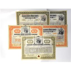Group of Electric Related Stock Certificates, 1918-1925 Issued Stock Certificates