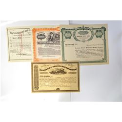 Group of Railroad Related Specimen Certificates, ca.1875-1910