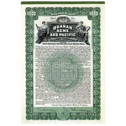 Quanah, Acme and Pacific Railway Co., Issued Pair of Bonds