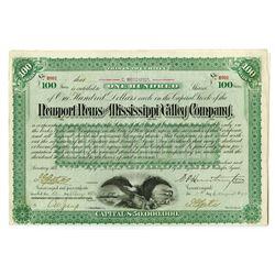 Newport News & Mississippi Valley Co. Collis P. Huntington Signature.