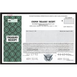 United States Treasury Coupon Receipt.