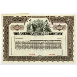 American Tobacco Co., ca.1940-1950 Specimen Stock Certificate