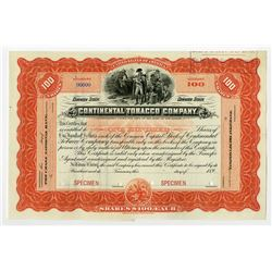 Continental Tobacco Co., ca.1890-1900 Specimen Stock.