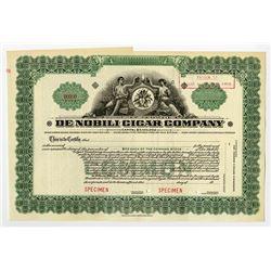 De Nobili Cigar Co., ca.1910-20's Specimen Stock Certificate.