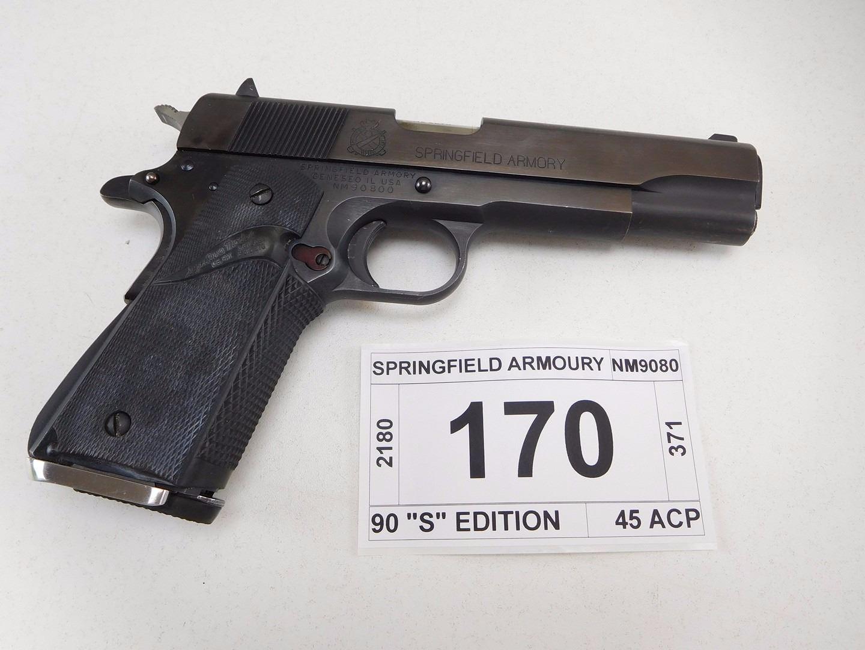 SPRINGFIELD ARMOURY , MODEL: 1911 A1 90