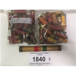 ASSORTED SHOTGUN AMMO & FLARES