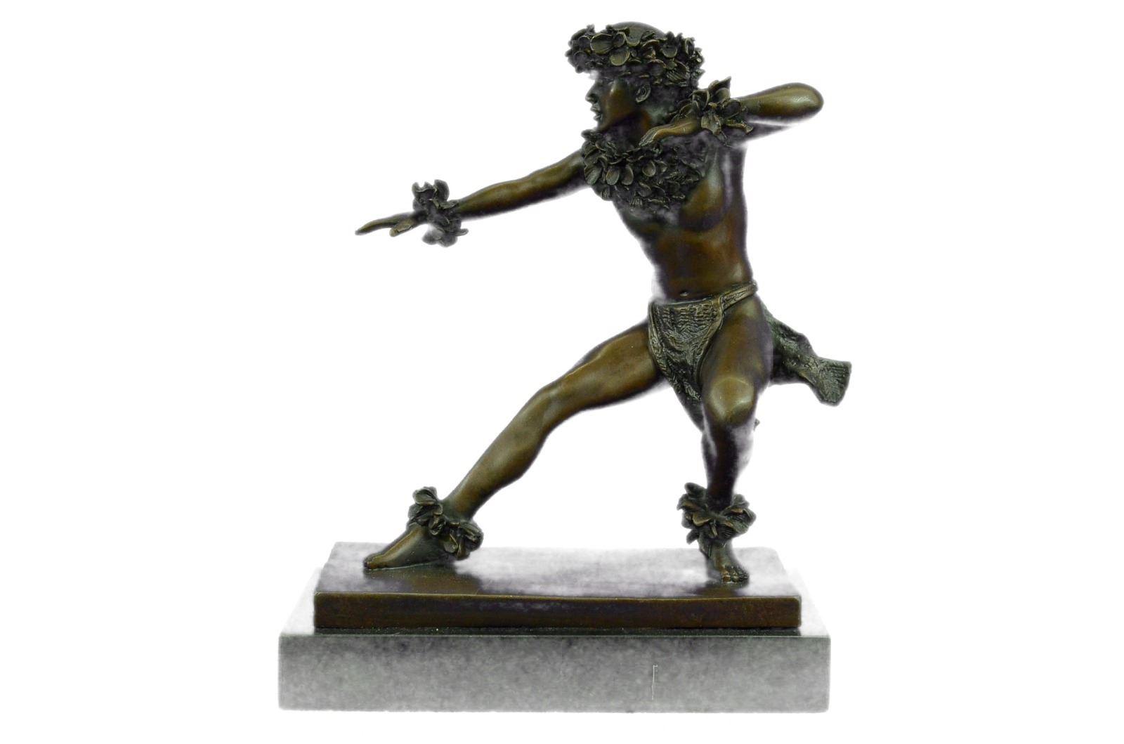 Signed Masseau Nude Erotic Male Bronze Sculpture