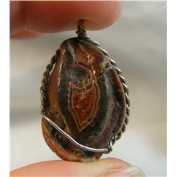 Wire Wrapped Fairburn Clam Shell Pendant