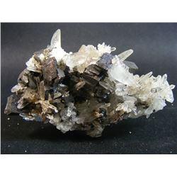 Hubnerite/Quartz Cluster from Mundo Nuevo Mine Peru