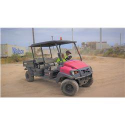 2011 CLUB CAR XRT1550, 4-SEAT UTV - 4WD, DIESEL, KUBOTA MOTOR, 1333 HOURS