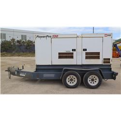 2011 MMD PRO 150 120KW  GENERATOR, TRAILER MOUNTED, 599 HOURS