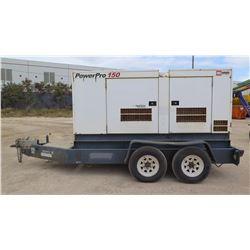 2011 MMD PRO 150 120KW  GENERATOR, TRAILER MOUNTED, 599 HOURS
