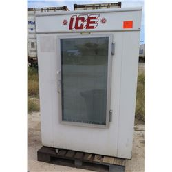 CUBE ICE REFRIGERATOR, WAS IN STORAGE FOR SOME TIME, FUNCTIONALITY UNKNOWN