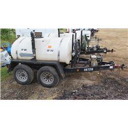 2012 WYLIE EXP500SG EXPRESS WATER WAGON TRAILER, 500 GAL W/PUMP - NEEDS REPAIR (has leak in between