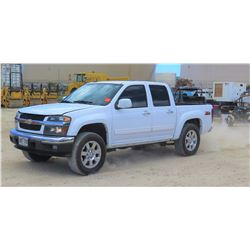 2012 CHEVROLET COLORADO PICKUP TRUCK 1/2T GAS 2WD CREW CAB, 60,127 MILES