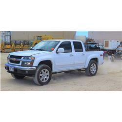 2012 CHEVROLET COLORADO PICKUP TRUCK 1/2T GAS 2WD CREW CAB, 60,127 MILES