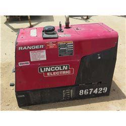 2014 LINCOLN RANGER 225 WELDER, 225 AMP, GAS