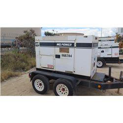 2011 MQ POWER MODEL DCA45SSKU DIESEL GENERATOR, 256KW, 4486 HOURS