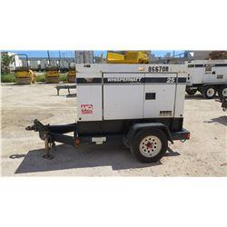 2011 MQ POWER MODEL DCA25USI2 DIESEL GENERATOR, 20KW, 10694 HOURS