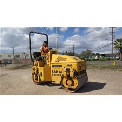 2005 SAKAI SW300 47  RIDE ON DRUM ROLLER - DIESEL MOTOR, 1145 HOURS