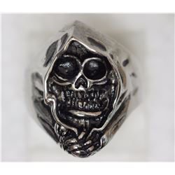 STAINLESS STEEL GHOST MEN'S RING
