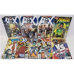 LOT OF 8 NEW IN PLASTIC XMEN AND AVENGERS