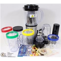 MAGIC BULLET WITH ATTACHMENTS AND 10 SECOND