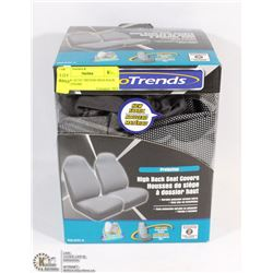 51) NEW AUTO TRENDS HIGH BACK SEAT COVERS