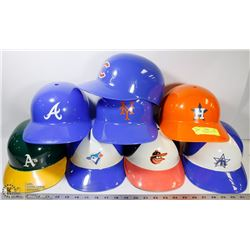 53) COLLECTION OF 8 ASSORTED BASEBALL HELMETS